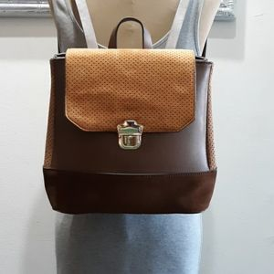 Parfois vegan leather + suede backpack NWOT